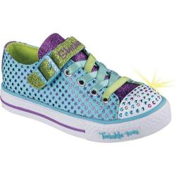 Girls' Skechers Twinkle Toes Shuffles Mysticals Sneaker Turquoise/Purple