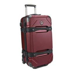 Traveler's Choice Maxporter Merlot 24-inch Rolling Cargo Trunk Upright Duffel/ Suitcase