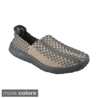 Italina Men's Woven Elastic Slip-on Breathable Comfort Shoes