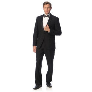 Kenneth Cole New York Men's Slim Fit Black Wool Tuxedo