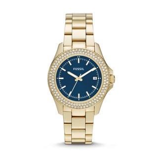 Fossil Women's 'Retro Traveler' Goldtone Stainless Steel Watch