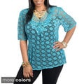 Stanzino Women's Plus Size Net Blouse