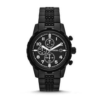 Fossil Men's 'Dean' Black Stainless Steel Analog Watch
