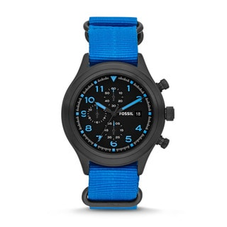 Fossil Men's 'Compass' Blue Chronograph Watch