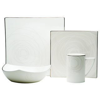 Red Vanilla Orbit 4-piece Place Setting with Bonus 4-piece Place Setting