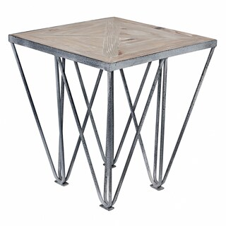 angelo:HOME Chelsea Road Wood and Metal Square End Table