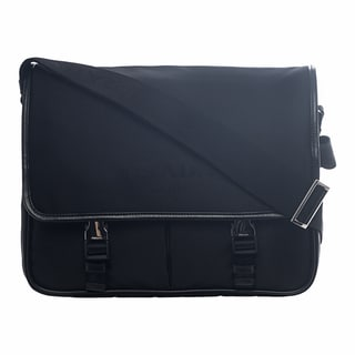 Prada Black Nylon Messenger Bag