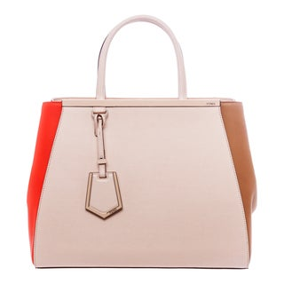 Fendi '2Jours' Small Multicolor Leather Shopper Bag
