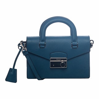 Prada Mini Cobalt Saffiano Leather Cross-body Bag