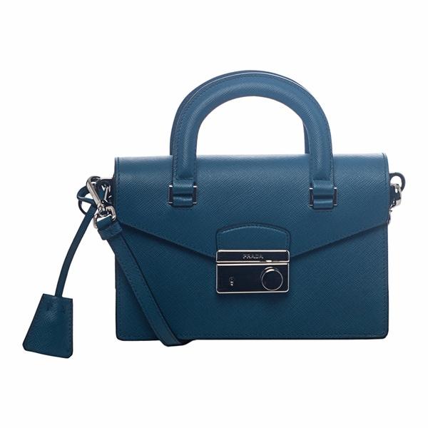 Prada Mini Cobalt Saffiano Leather Cross-body Bag