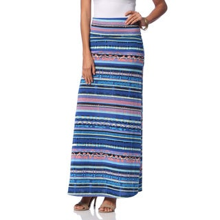 Hadari Tribal Stipe Pull-on Maxi Skirt