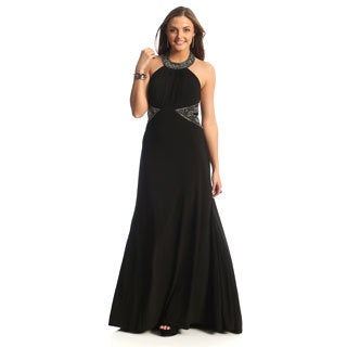 Nightway Women's Embellished Halter Dress