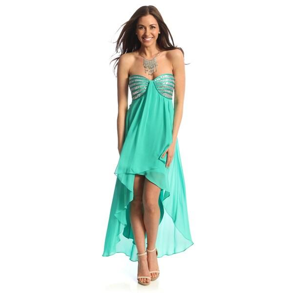 Morgan & Co. Juniors High-low Hem Dress