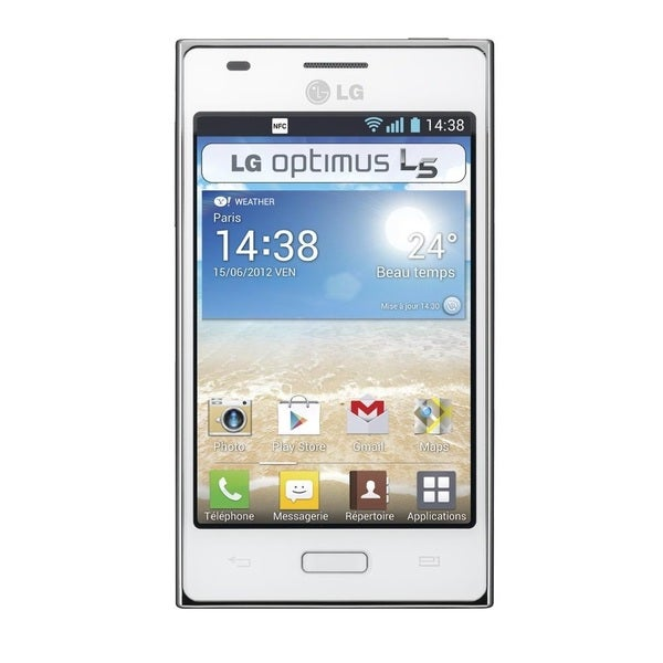LG Optimus L5 E610 Unlocked GSM Android Cell Phone - White