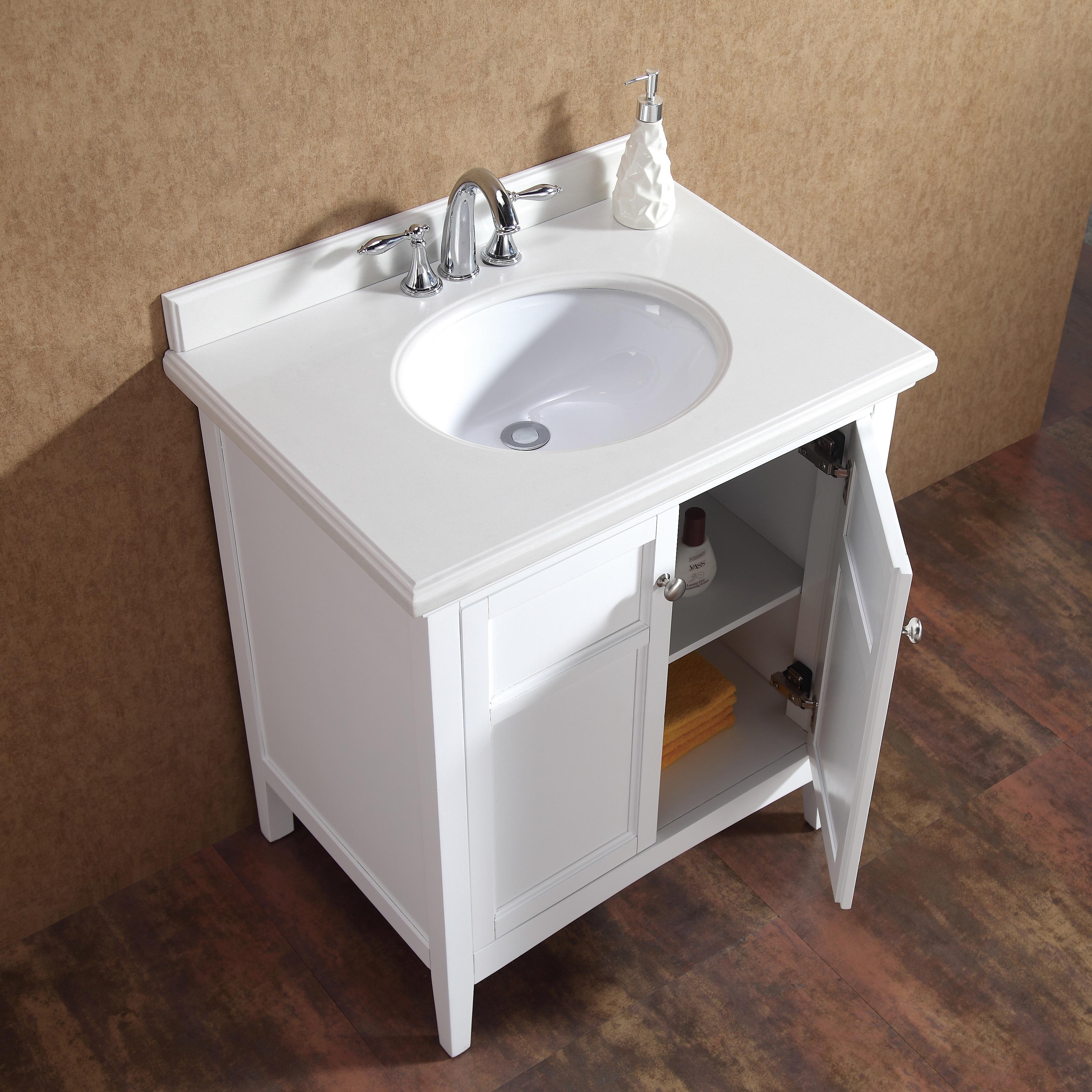 83 Inch Bathroom Vanity ove decors campo 30-inch single sink bathroom vanity with granite