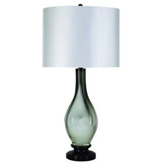 Dorian 1-light Glacial Glass Ebony Table Lamp