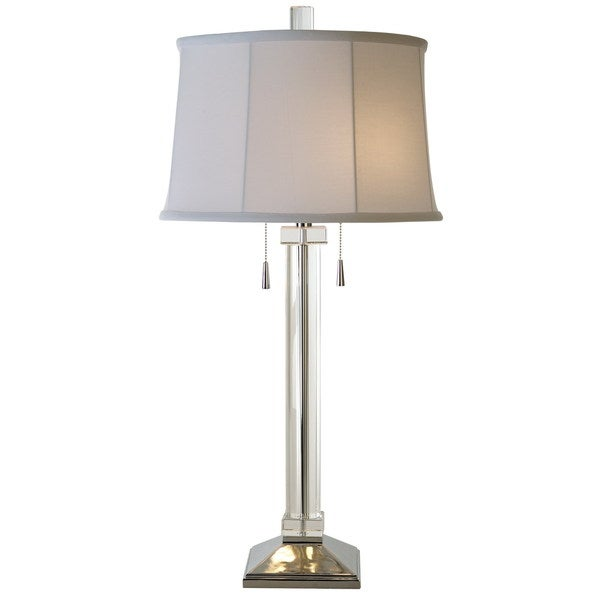Uprising 2-light Chrome/ Crystal Table Lamp