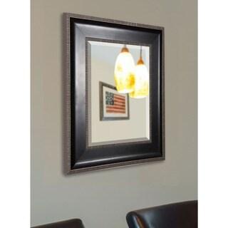 American Made Rayne Modern Black and Silver Wall Mirror