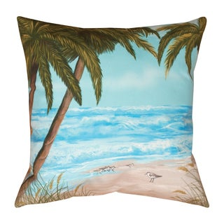Sandpiper Beach 19-inch Indoor/Outdoor Throw Pillow