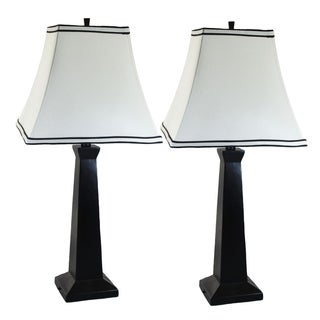 Lisa II Matte Black Table Lamp (Set of 2)