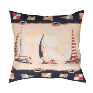 Sunday Sailboats 19-inch Indoor/Outdoor Throw Pillow