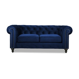 Patrick European Velvet Button-tufted Sofa