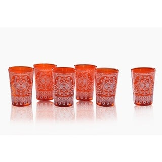 Set of 6 Moroccan Tea Glass set (India)