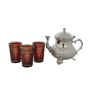 Maroon Moroccan Tea Set (India)