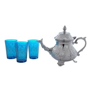 Blue Moroccan Tea Set (India)