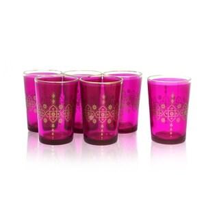 Pink Moroccan Tea Glass Set (India)
