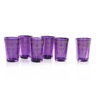 Purple Moroccan Tea Glass Set (India)