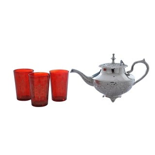 Red Moroccan Tea Set (India)