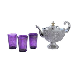 Purple Moroccan Tea Set (India)