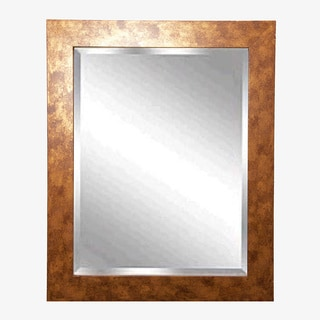 American-made Rayne Gold/ Copper Stone Wall Mirror