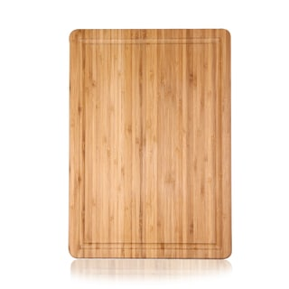 Adeco 100-percent Natural Bamboo 0.62-inch thick Chopping Board