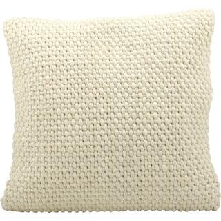 Nourison 'Mina Victory' 20-inch Square Cream Felt Throw Pillow