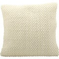 Nourison 'Mina Victory' 20-inch Square Cream Felt Throw Pillow