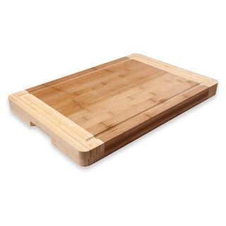 Adeco 100-percent Natural Bamboo 1.44-inch thick Chopping Board
