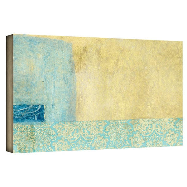 Art Wall Elena Ray 'Gold Blue Banner' Gallery-Wrapped Canvas 12662185