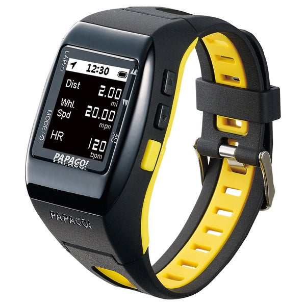PAPAGO! GoWatch 770 GPS Multi-Sports Watch - Yellow Belt
