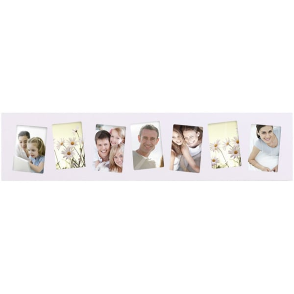 Adeco White Wood Photo Frame Wall Hanging Decoration