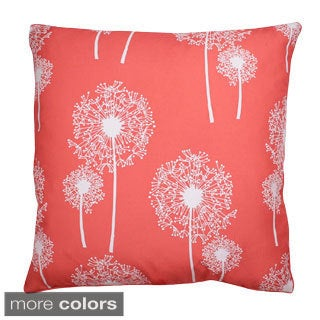Dandelion Glitter Print 20-inch Feather Fill Throw Pillow