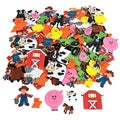 Fun Express Fabulous Foam Adhesive Farm Shape Stickers (500 Pieces)