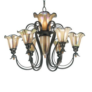 Shamass 9-light Tuscan Silver Chandelier