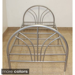 Twin 7-leg Support Metal Bed