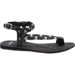 Women's Bronx Yen Zen Black/Silver Vitello/Metallic Crack