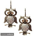 Antiqued Finished Wise Owl Dangle Earrings