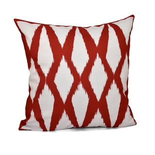 16 x 16 Inch Diamond Print Decorative Throw Pillow