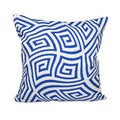16 x 16-inch Twisted Geometric Print Decorative Throw Pillow