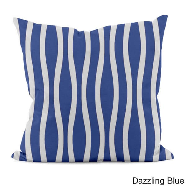20 x 20-inch Curvy Stripe Decorative Throw Pillow